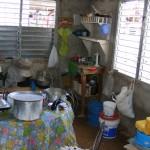 Keukentje van het gezin in het huiskkerkje